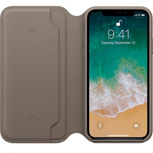 Apple iPhone X Leren Folio hoesje | bestel online | Macdirect